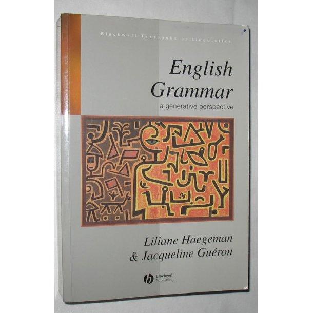 English Grammar a generative perspective