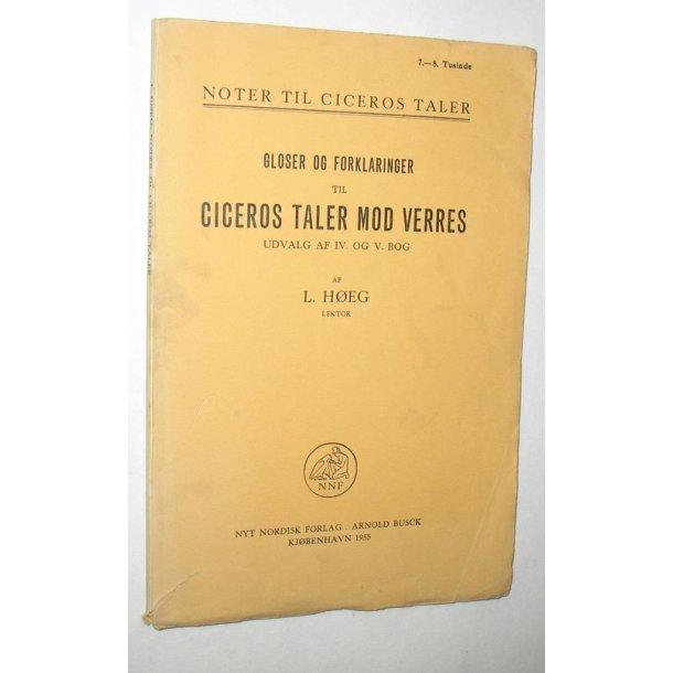 Gloser og Forkl. t.Ciceros Tale mod